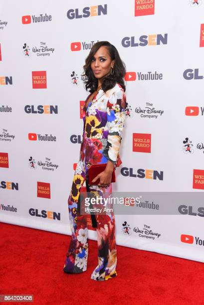 Kerry Washington attends 2017 GLSEN Respect Awards Arrivals at the Beverly Wilshire Four Seasons Hotel on October 20 2017 in Beverly Hills California