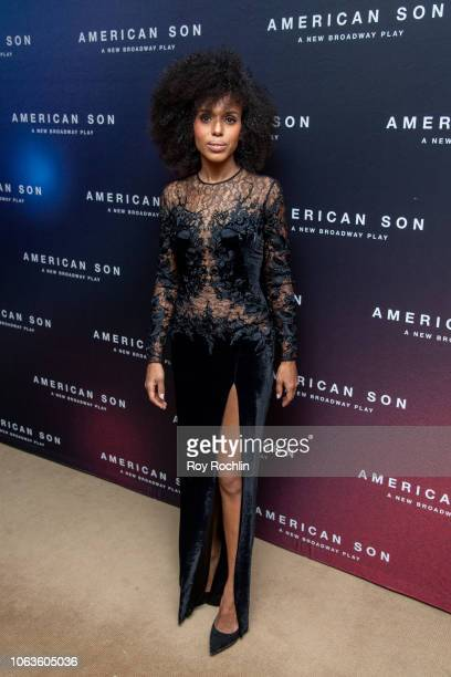 "Kerry Washington attends ""American Son"" opening night after party at Brasserie 8 1/2 on November 04, 2018 in New York City."