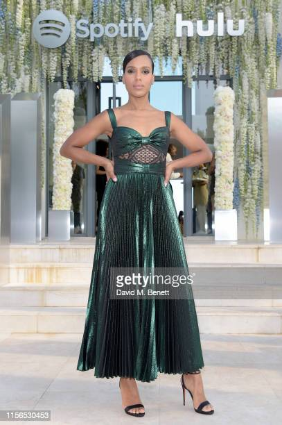 Kerry Washington attends an intimate evening of music and culture hosted by Spotify and Hulu during Cannes Lions 2019 at Villa Mirazuron June 17,...