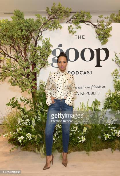 Kerry Washington attends Gwyneth Paltrow And Kerry Washington Host A Live Episode Of The goop Podcast with Banana Republic at Spring Place on...