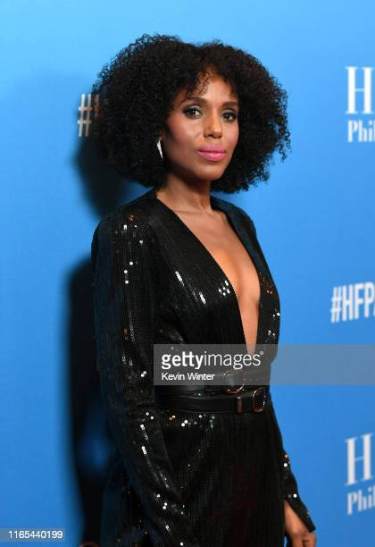 Kerry Washington attends Hollywood Foreign Press Association's Annual Grants Banquet at Regent Beverly Wilshire Hotel on July 31, 2019 in Beverly...