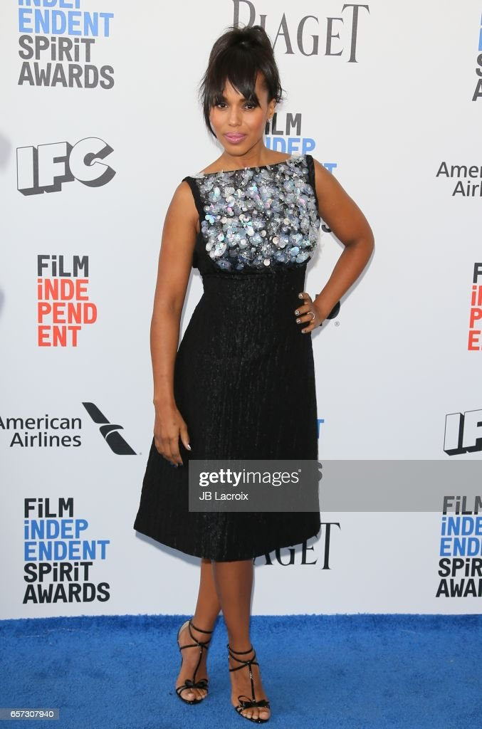 Kerry Washington attends the 2017 Film Independent Spirit Awards on February 25, 2017 in Santa Monica, California.
