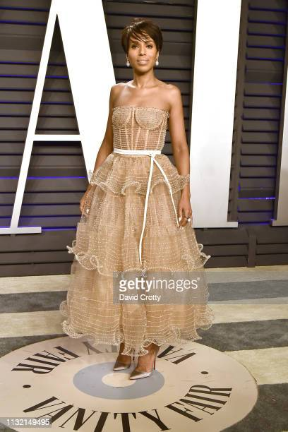 Kerry Washington attends the 2019 Vanity Fair Oscar Party at Wallis Annenberg Center for the Performing Arts on February 24, 2019 in Beverly Hills,...