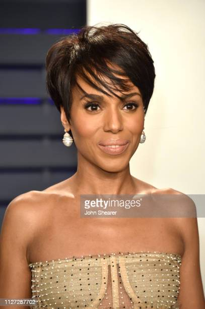 Kerry Washington attends the 2019 Vanity Fair Oscar Party hosted by Radhika Jones at Wallis Annenberg Center for the Performing Arts on February 24,...