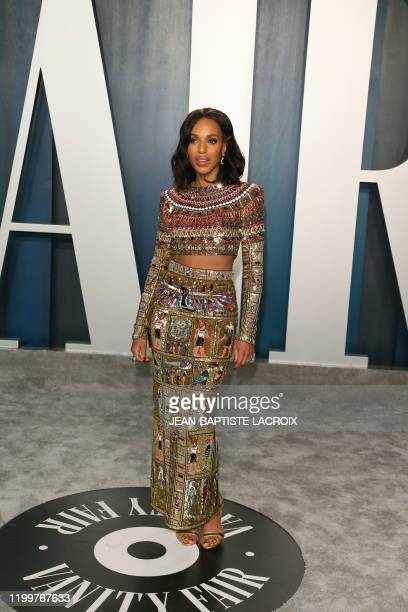 Kerry Washington attends the 2020 Vanity Fair Oscar Party following the 92nd annual Oscars at The Wallis Annenberg Center for the Performing Arts in...