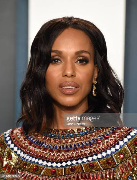 Kerry Washington attends the 2020 Vanity Fair Oscar Party hosted by Radhika Jones at Wallis Annenberg Center for the Performing Arts on February 09,...