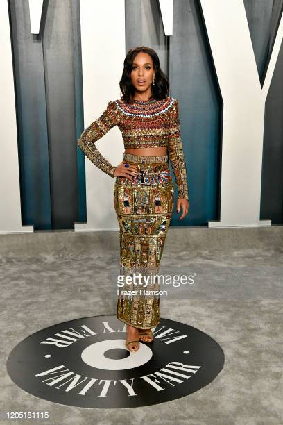 Kerry Washington attends the 2020 Vanity Fair Oscar Party hosted by Radhika Jones at Wallis Annenberg Center for the Performing Arts on February 09...