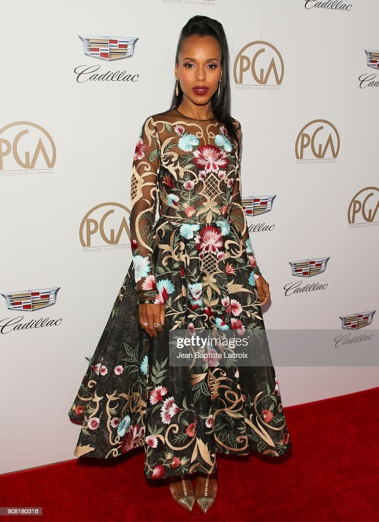 Kerry Washington attends the 29th Annual Producers Guild Awards at The Beverly Hilton Hotel on January 20, 2018 in Beverly Hills, California.