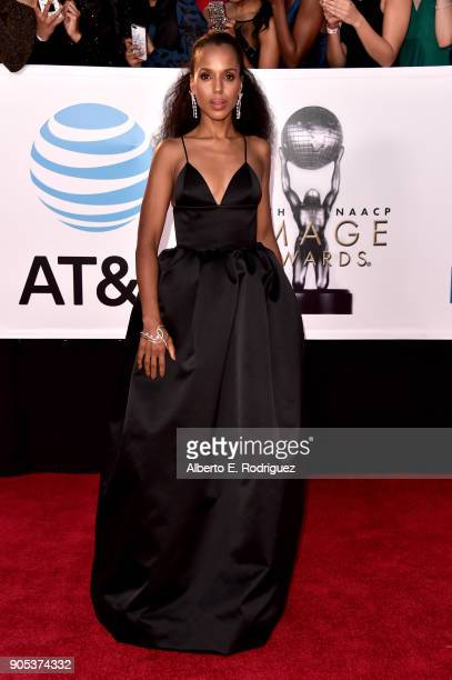 Kerry Washington attends the 49th NAACP Image Awards at Pasadena Civic Auditorium on January 15 2018 in Pasadena California