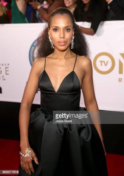 Kerry Washington attends the 49th NAACP Image Awards at Pasadena Civic Auditorium on January 15 2018 in Pasadena California