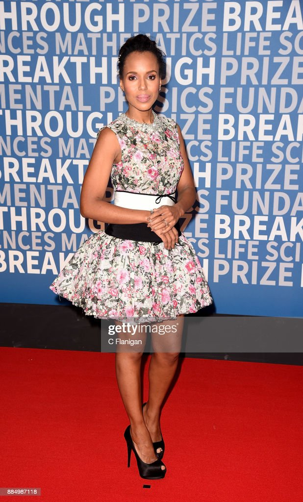 Kerry Washington attends the 6th Annual Breakthrough Prize at NASA Ames Research Center on December 3, 2017 in Mountain View, California.