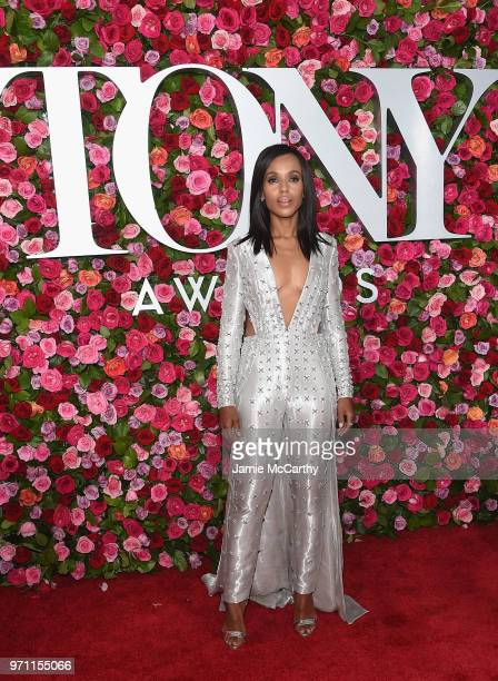Kerry Washington attends the 72nd Annual Tony Awards at Radio City Music Hall on June 10 2018 in New York City