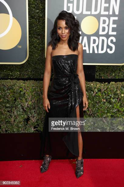 Kerry Washington attends The 75th Annual Golden Globe Awards at The Beverly Hilton Hotel on January 7 2018 in Beverly Hills California