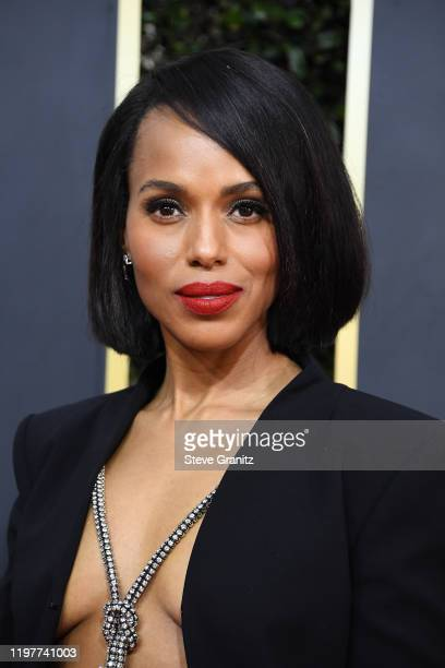 Kerry Washington attends the 77th Annual Golden Globe Awards at The Beverly Hilton Hotel on January 05, 2020 in Beverly Hills, California.