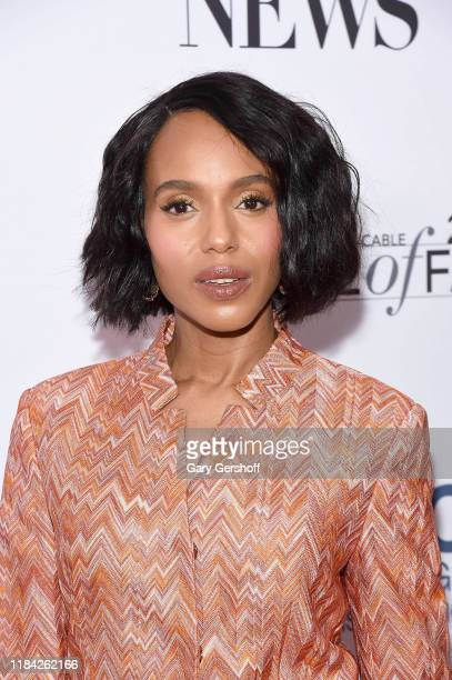 Kerry Washington attends the Broadcasting & Cable Hall of Fame Awards Anniversary Gala at The Ziegfeld Ballroom on October 29, 2019 in New York City.