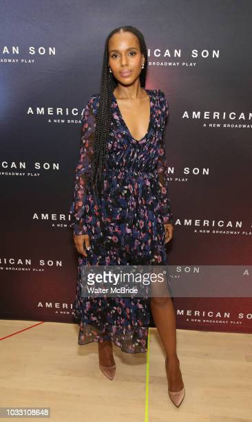 Kerry Washington attends the Cast photo call for the New Broadway Play American Son on September 14 2018 at the New 42nd Street Studios in New York...