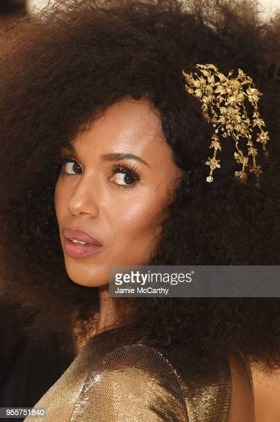 Kerry Washington attends the Heavenly Bodies Fashion The Catholic Imagination Costume Institute Gala at The Metropolitan Museum of Art on May 7 2018...