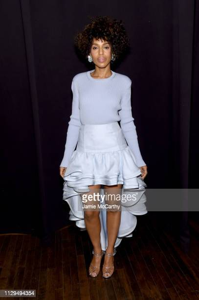 Kerry Washington attends the Marc Jacobs Fall 2019 Show at Park Avenue Armory on February 13, 2019 in New York City.