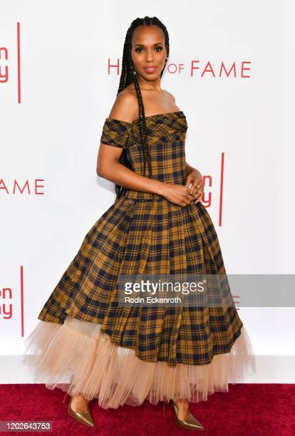Kerry Washington attends the Television Academy's 25th Hall Of Fame Induction Ceremony at Saban Media Center on January 28, 2020 in North Hollywood,...