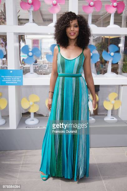 Kerry Washington attends Twitter's #HereWeAre brunch and conversation at Cannes Lions on June 20 2018 in Cannes France