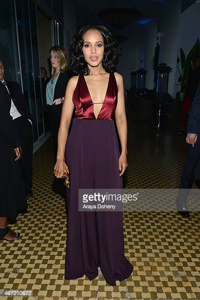 Kerry Washington attends VIP Red Carpet Suite Hosted by Ketel One Vodka at 26th Annual GLAAD Media Awards at the Beverly Hilton on March 21 2015 in...