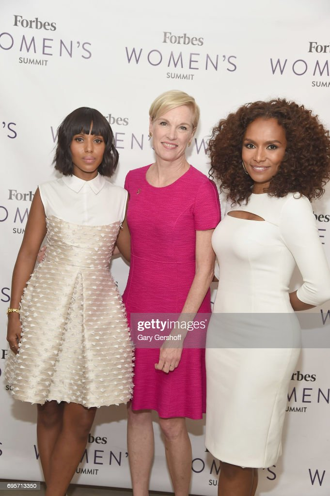 Kerry Washington, Cecile Richards and Janet Mock attend the 2017 Forbes Women's Summit at Spring Studios on June 13, 2017 in New York City.