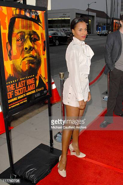 Kerry Washington during Fox Searchlight Pictures Presents the Los Angeles Premiere of The Last King of Scotland at Academy of Motion Picture Arts...