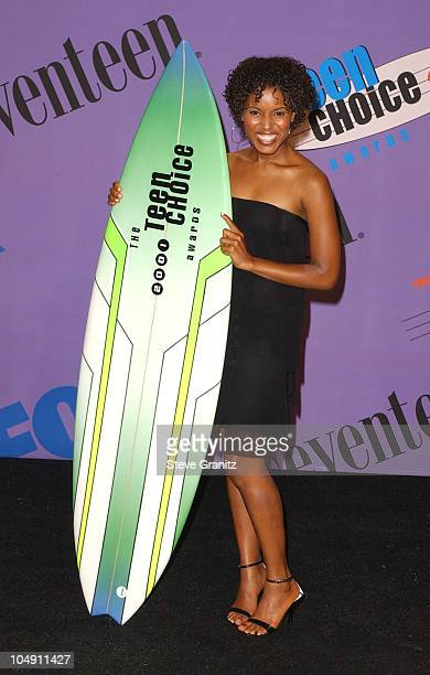 Kerry Washington during The 2001 Teen Choice Awards Press Room at Universal Amphitheater in Universal City California United States