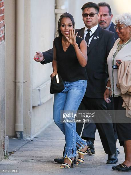 Kerry Washington is seen at 'Jimmy Kimmel Live' on February 18 2016 in Los Angeles California