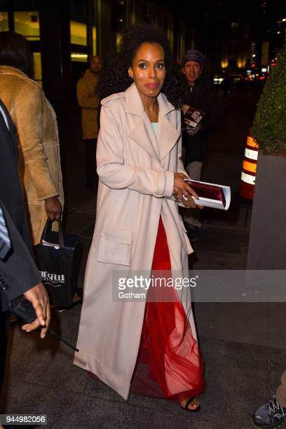 Kerry Washington is seen in Midtown on April 11 2018 in New York City