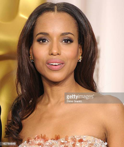 Kerry Washington poses at the 85th Annual Academy Awards at Dolby Theatre on February 24 2013 in Hollywood California