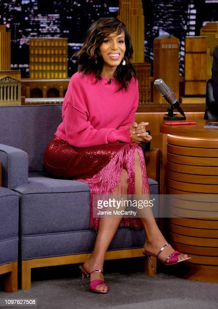 "Kerry Washington visits ""The Tonight Show Starring Jimmy Fallon"" at Rockefeller Center on January 21, 2019 in New York City."
