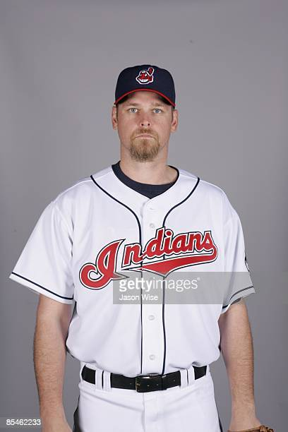 Kerry Wood of the Cleveland Indians poses during Photo Day on Saturday February 21 2009 at Goodyear Ballpark in Goodyear Arizona