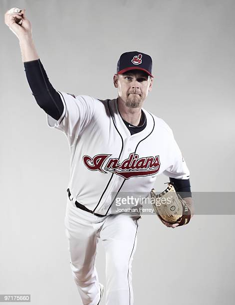 Kerry Wood poses for a portrait during the Cleveland Indians Photo Day at the training complex at Goodyear Stadium on February 28 2010 in Goodyear...