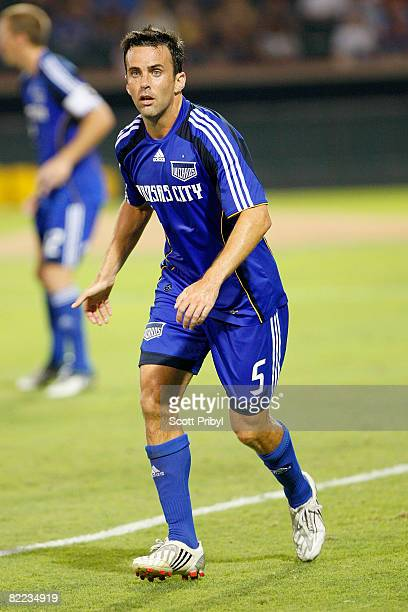 Kerry Zavagnin of the Kansas City Wizards at the 57th minute in the game against Chivas USA becomes the organization's all time leader in minutes...