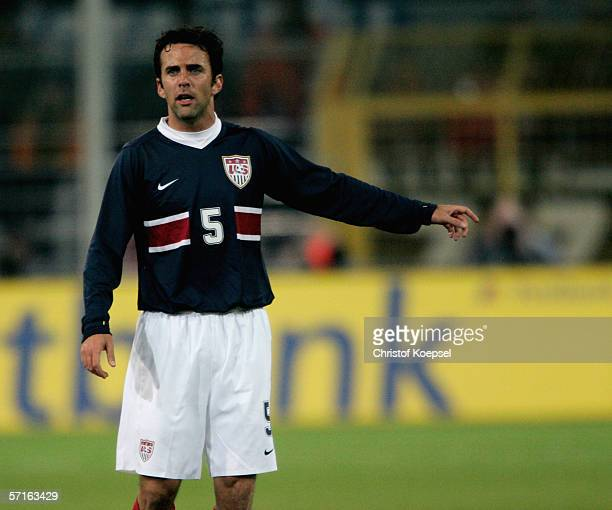 Kerry Zavagnin of the USA during the international friendly match between Germany and the USA at the Signal Iduna Park on March 22 2006 in Dortmund...