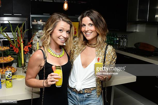 Kerrya Corcoran and Jess Ingram attend ARYA Curcumin Presents The Yellow Social at Private Residence on August 20 2016 in Los Angeles California
