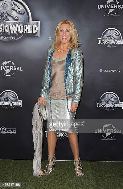 KerryAnne Kennerley arrives at the Australian Premiere of 'Jurassic World' at Event Cinemas George Street on June 10 2015 in Sydney Australia