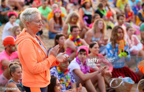 Kerryn Phelps looks on on March 22 2019 in Sydney Australia Surfers gather to celebrate five years of OneWave a not for profit that encourages people...