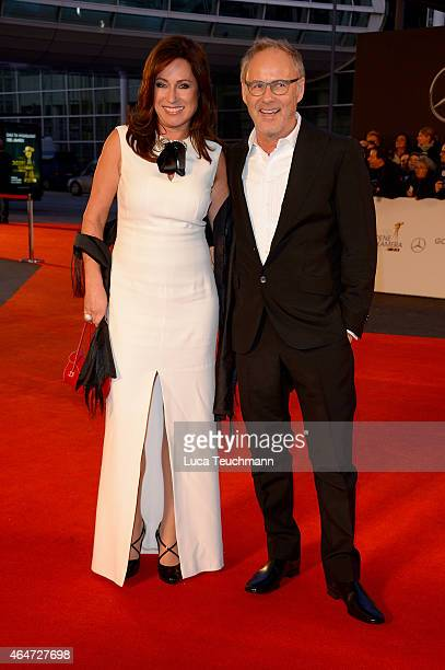 Kerstin Beckmann and Reinhold Beckmann attend the Goldene Kamera 2015 on February 27 2015 in Hamburg Germany