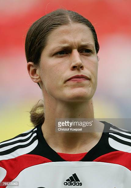 Kerstin Garefrekes of Germany looks on during the Quarter Final Womens World Cup 2007 match between Germany and Korea at Wuhan Sports Center Stadium...