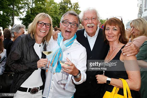Kerstin Goeritz Joerg Knoer Carlo von Tiedemann and his wife Julia Tiedemann attend the Concept Store Apropos Official Opening on August 06 2013 in...