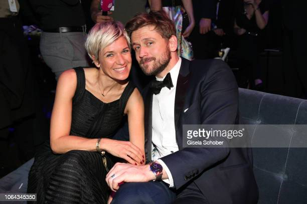 Kerstin Landsmann and her boyrriend Steve Windolf during the Bambi Awards 2018 after party at Stage Theater on November 16 2018 in Berlin Germany