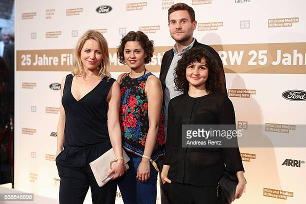 Kerstin Landsmann and Lukas Pilotyand attend the Film und Medienstiftung NRW summer party on June 8 2016 in Cologne Germany