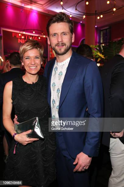 Kerstin Landsmann and partner Steve Windolf during the BUNTE BMW Festival Night at Restaurant Gendarmerie during the 69th Berlinale Filmfestival on...