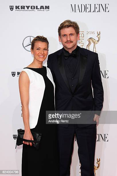 Kerstin Landsmann and Steve Windolf arrive at the Bambi Awards 2016 at Stage Theater on November 17 2016 in Berlin Germany