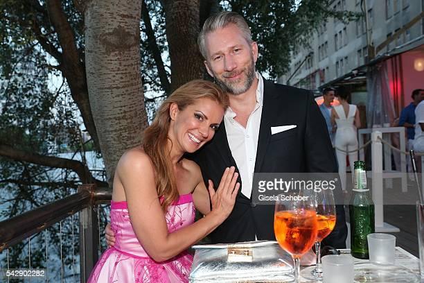 Kerstin Linnartz and her boyfriend Jens Boock during the Raffaello Summer Day 2016 to celebrate the 26th anniversary of Raffaello on June 24 2016 in...