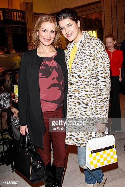 Kerstin Linnartz and Marie Nasemann attend the GRAZIA POP UP Breakfast on January 20 2015 in Berlin Germany