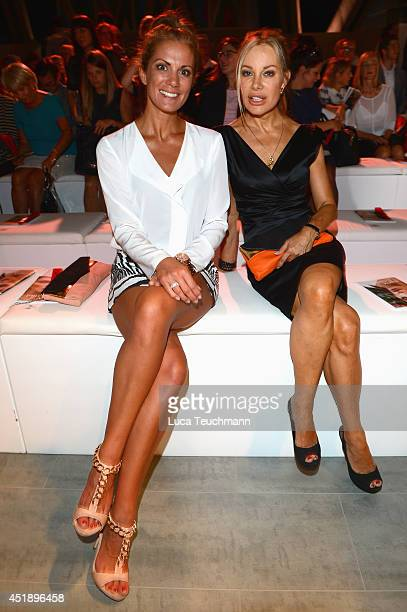 Kerstin Linnartz and Xenia Seeberg attend the Minx by Eva Lutz show during the MercedesBenz Fashion Week Spring/Summer 2015 at Erika Hess Eisstadion...