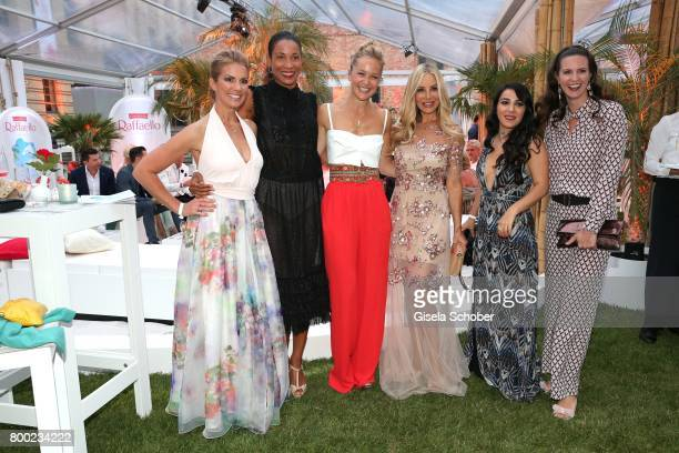 Kerstin Linnartz Annabelle Mandeng Esther Seibt Xenia Seeberg Fate Kastrati and Katrin Wrobel during the Raffaello Summer Day 2017 to celebrate the...